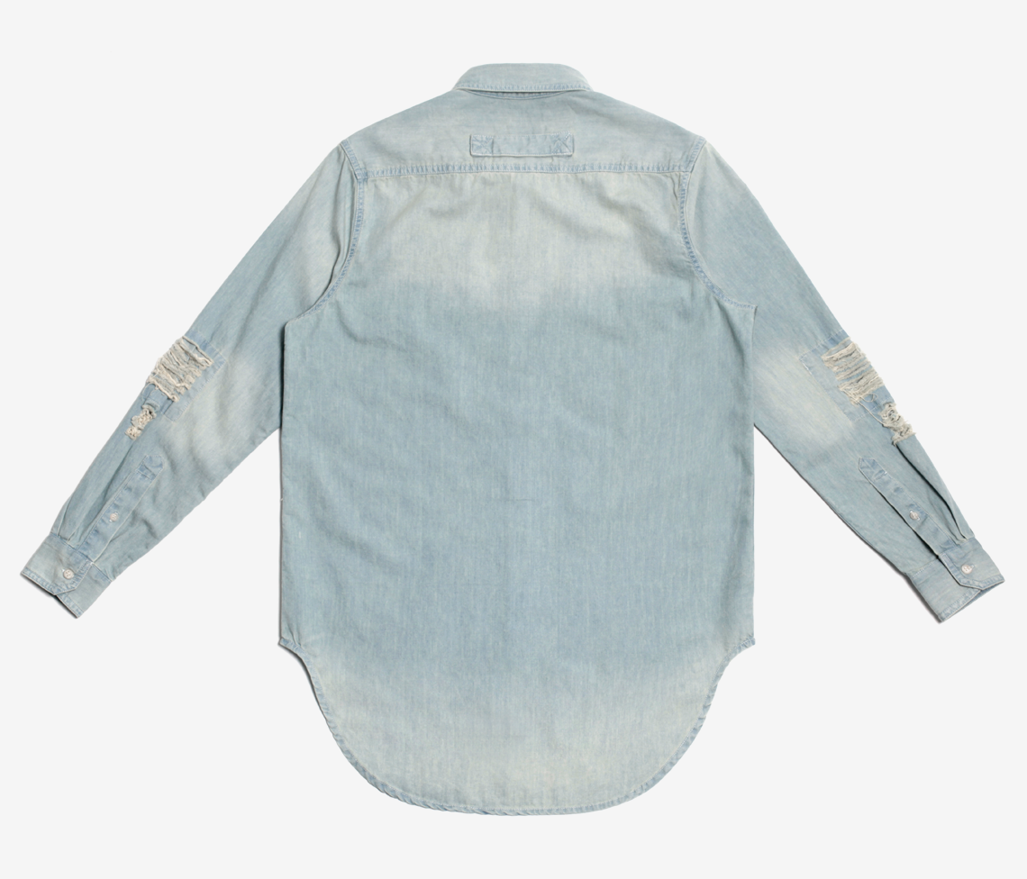 Stampd - Repaired Denim Shirt Indigo - COMMON  - 2