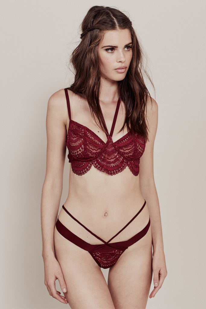For Love and Lemons- Lucia Lace Thong - COMMON