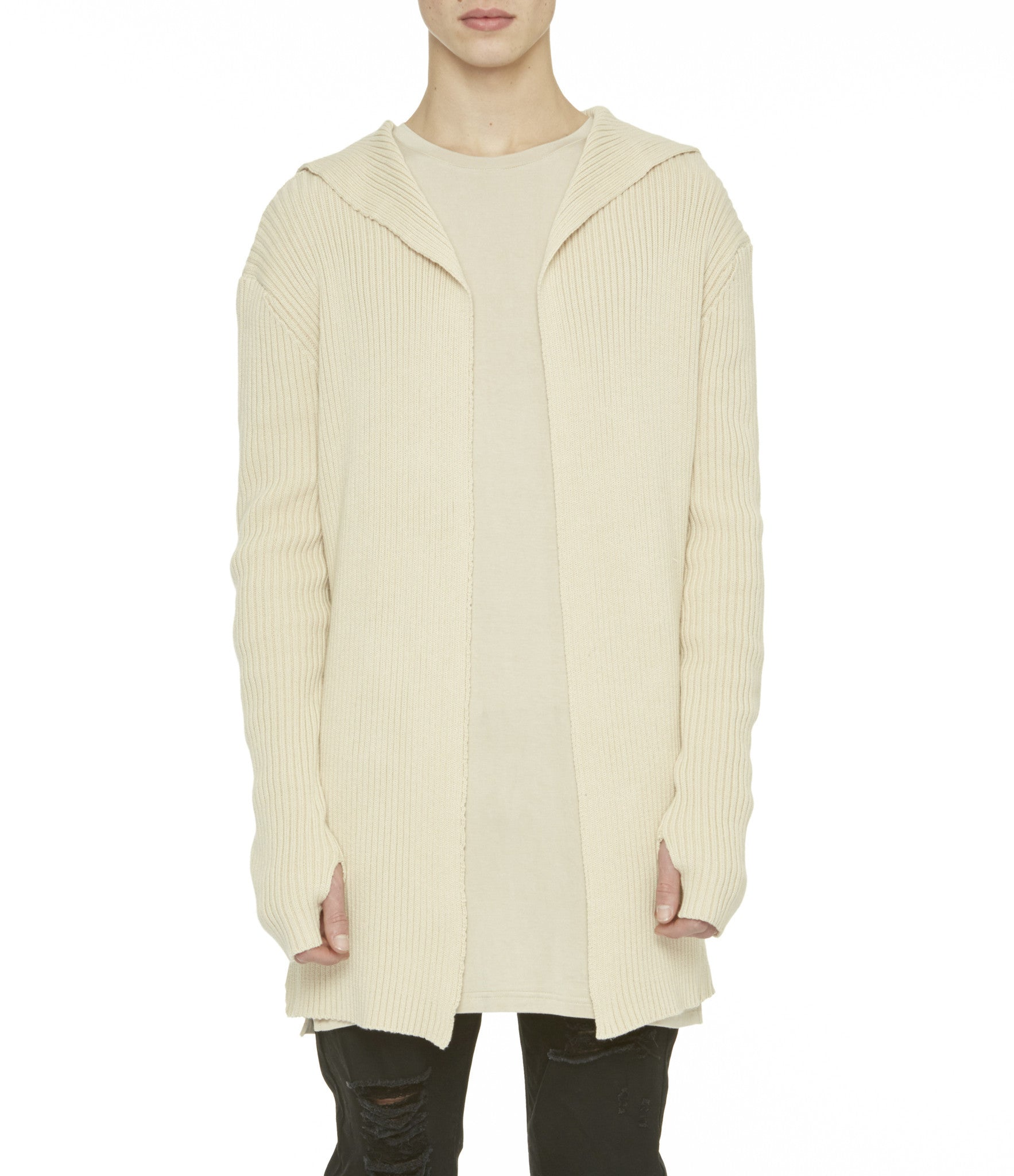 Underated - Hooded Knit Cardigan - COMMON  - 3