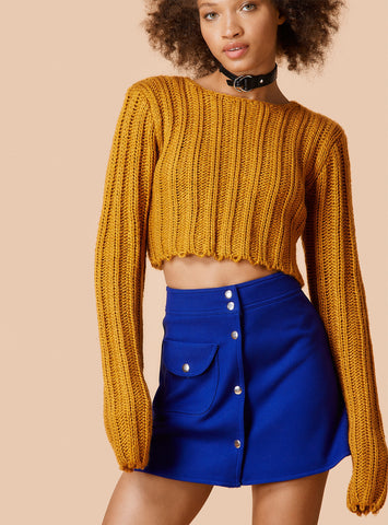 Unif - Certa Sweater Mustard - COMMON
