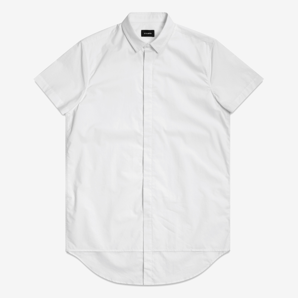 Stampd - Double Layer S/S Dress Shirt White - COMMON  - 1