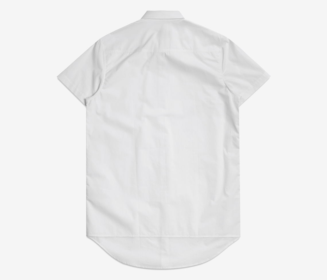Stampd - Double Layer S/S Dress Shirt White - COMMON  - 2