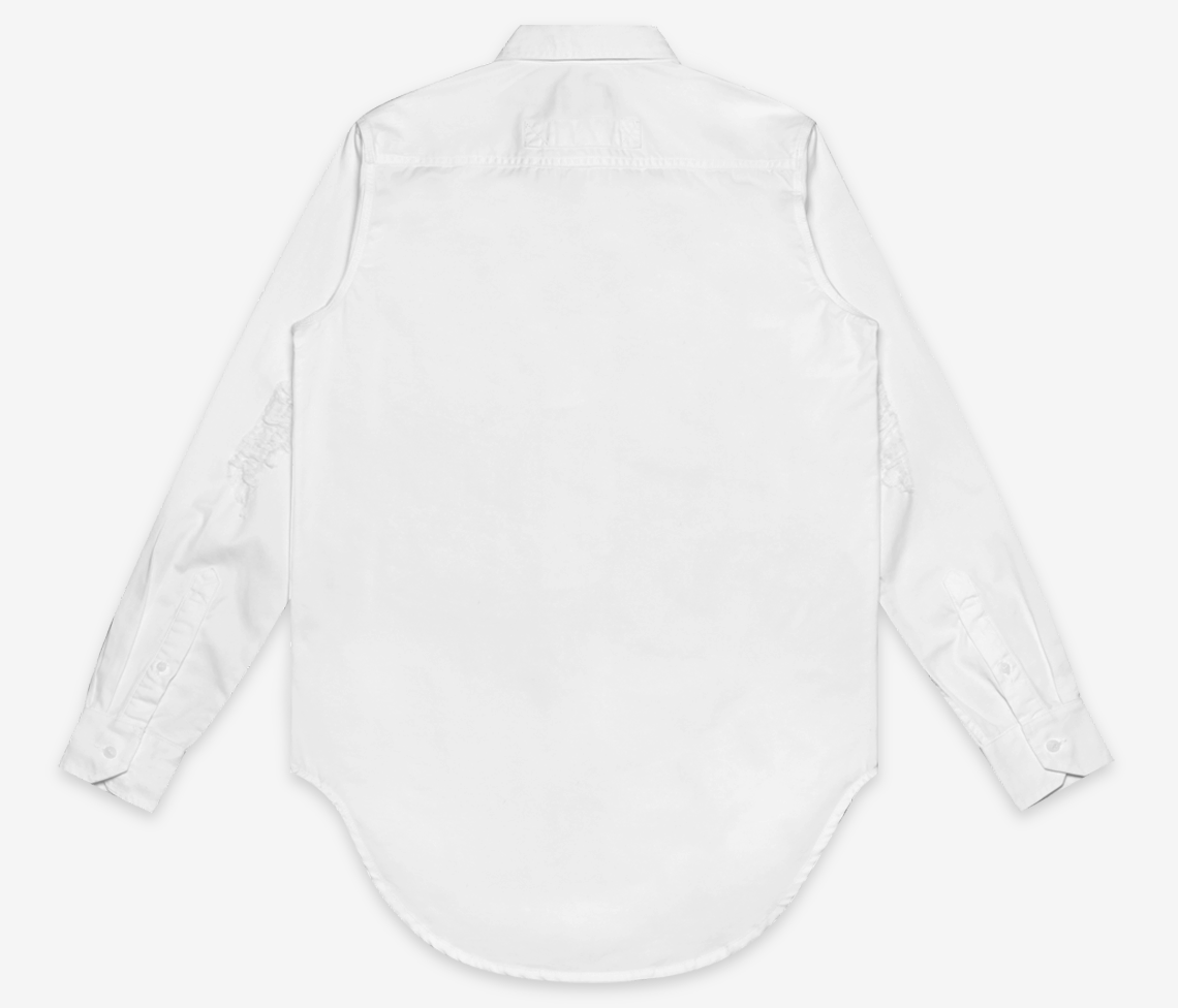 Stampd - Repaired Denim Shirt Off White - COMMON  - 2
