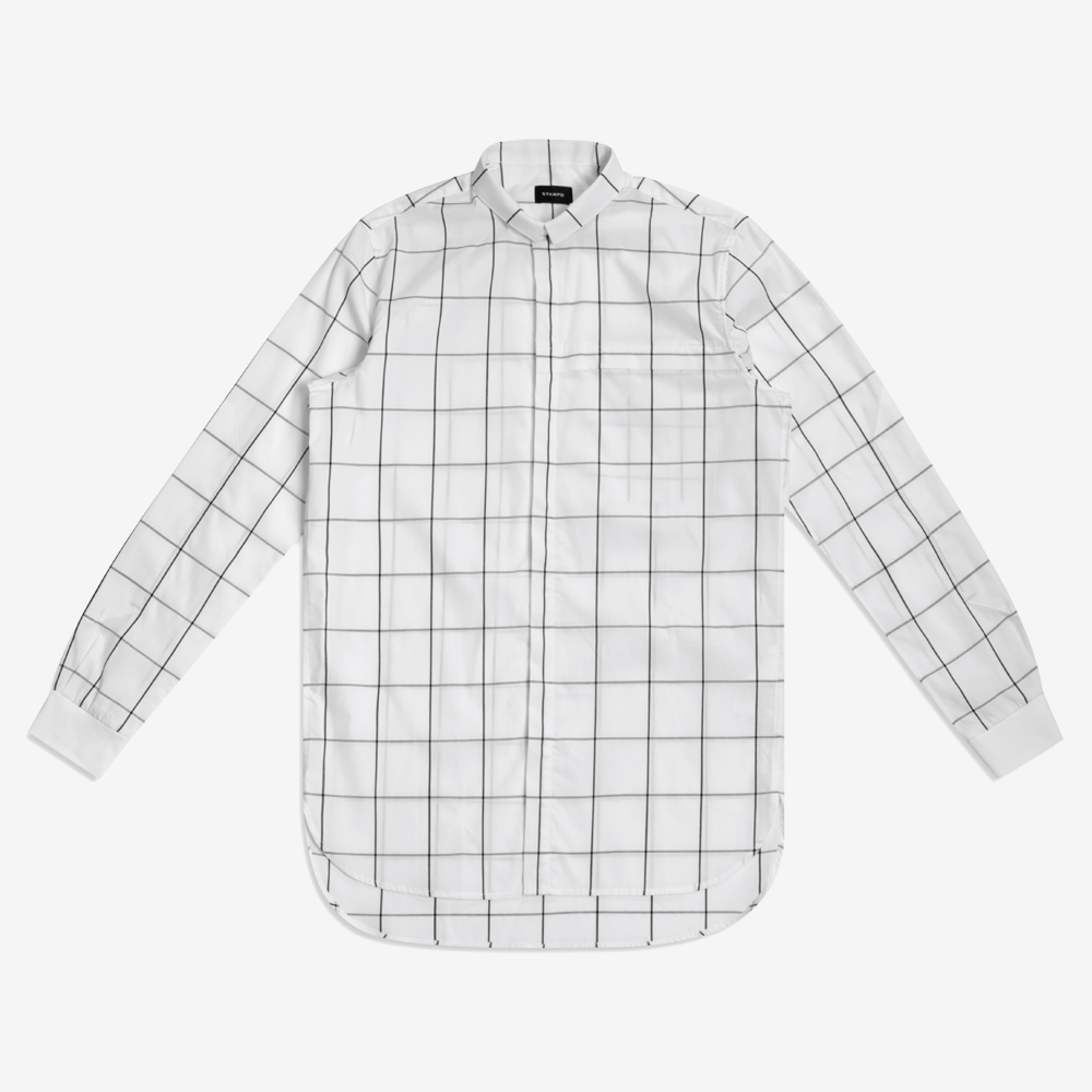 Stampd - Grid Dress Shirt White - COMMON  - 1