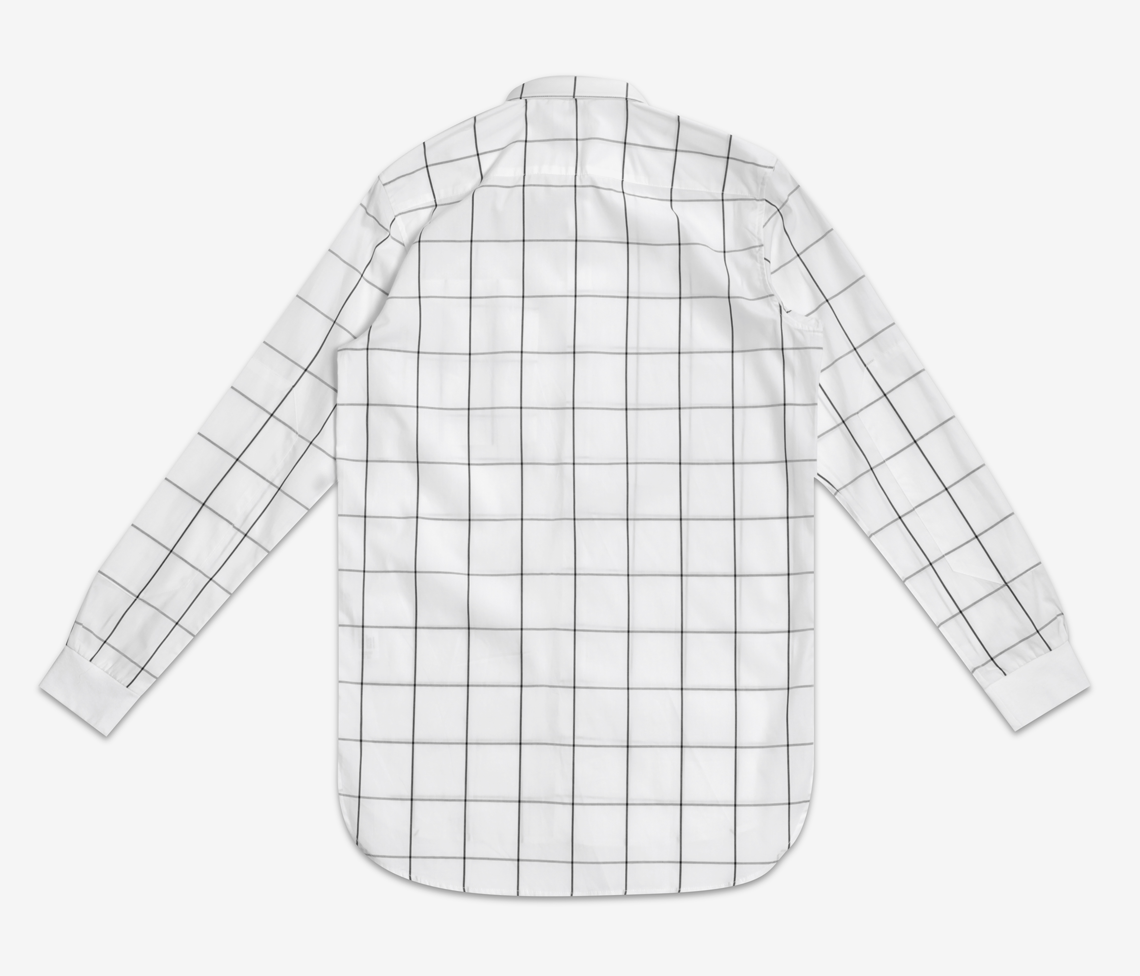 Stampd - Grid Dress Shirt White - COMMON  - 2