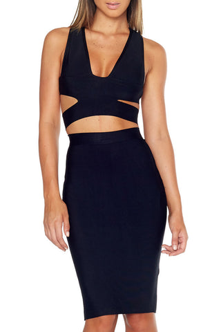 Femme LA - Athena Bandage Skirt Black - COMMON