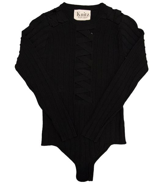 FOR LOVE AND LEMONS - SIMONE LACED BODYSUIT - COMMON  - 1