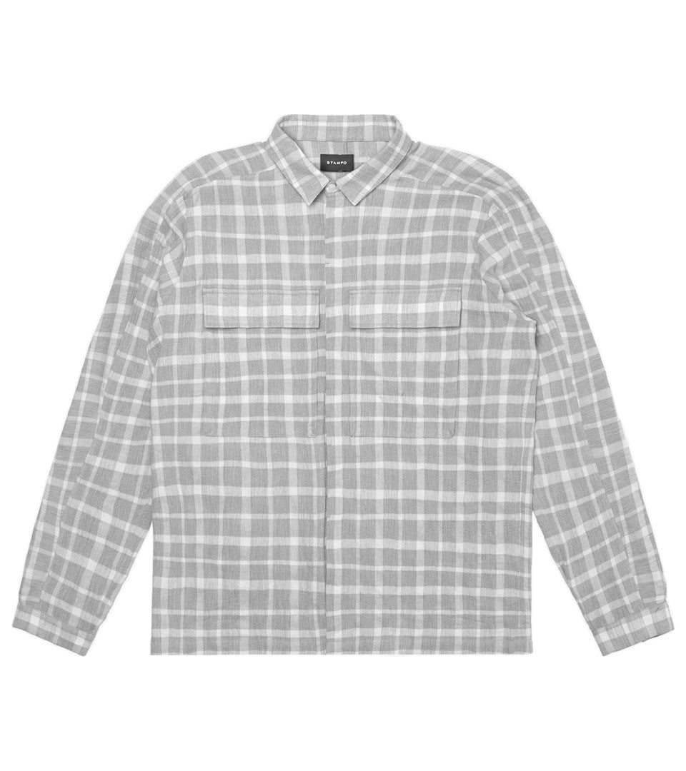 STAMPD - LINEN POCKET PAID SHIRT