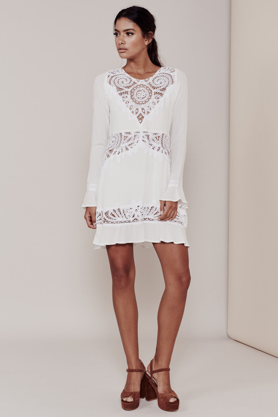For Love and Lemons- Valentina Mini Dress - COMMON