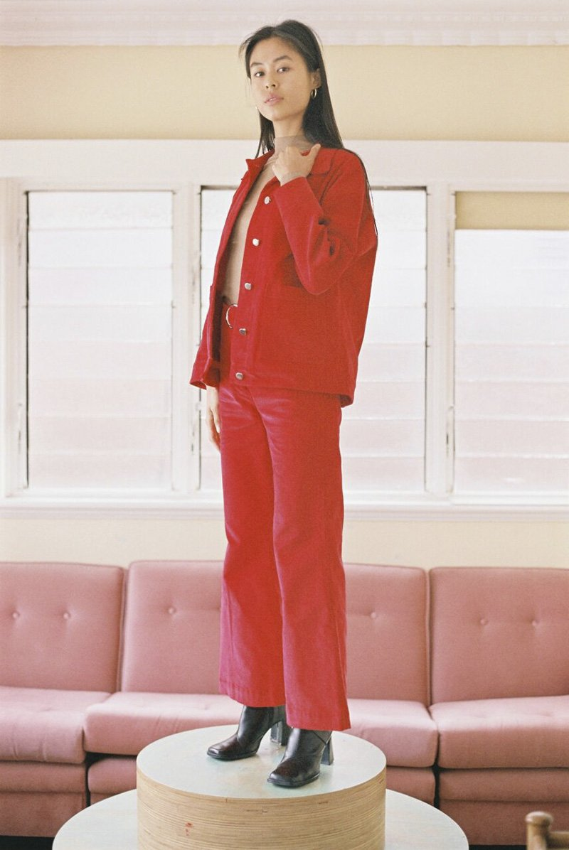 SISTER 'Coco' Jacket – Red Corduroy