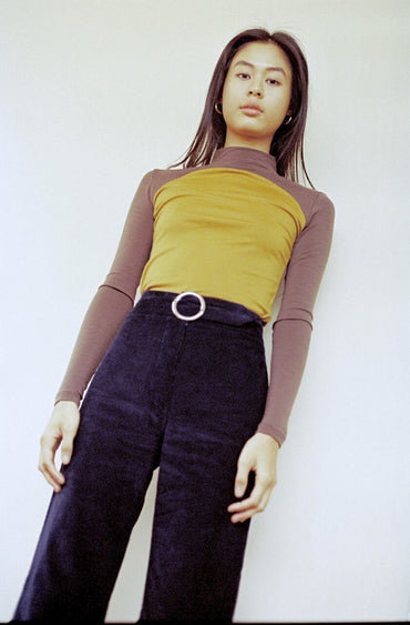 PRE-ORDER | SISTER 'Sunrise' Skivvy – Mustard and Brown