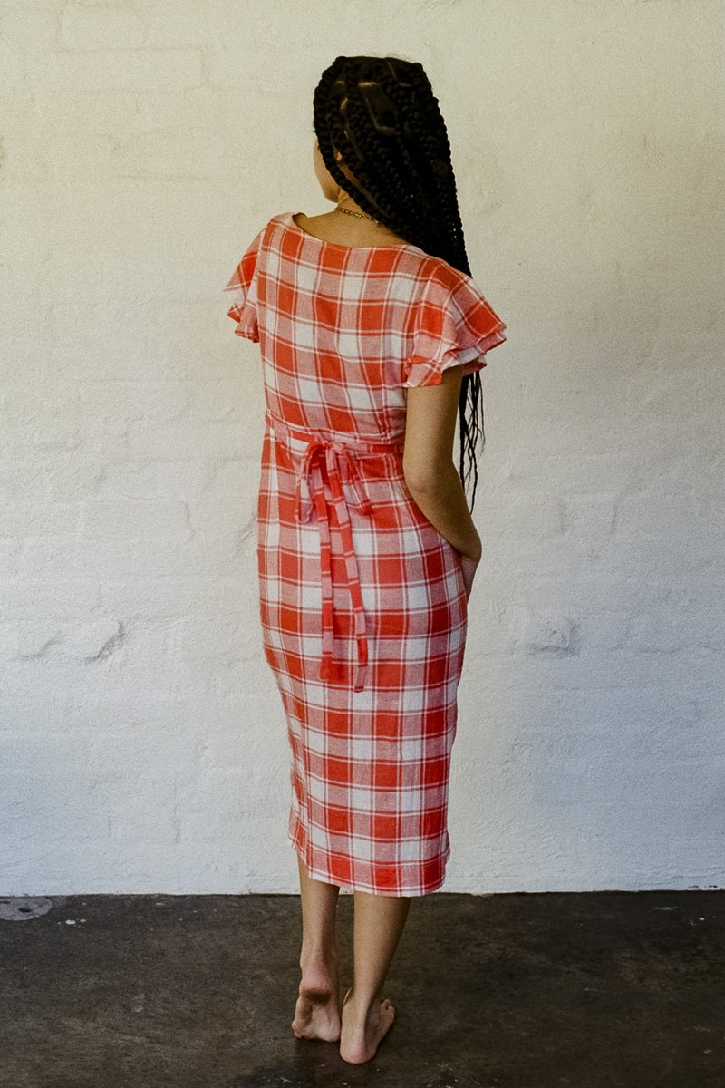 SISTER Picnic Wrap Dress – Red and White Check - THENINETYNINE