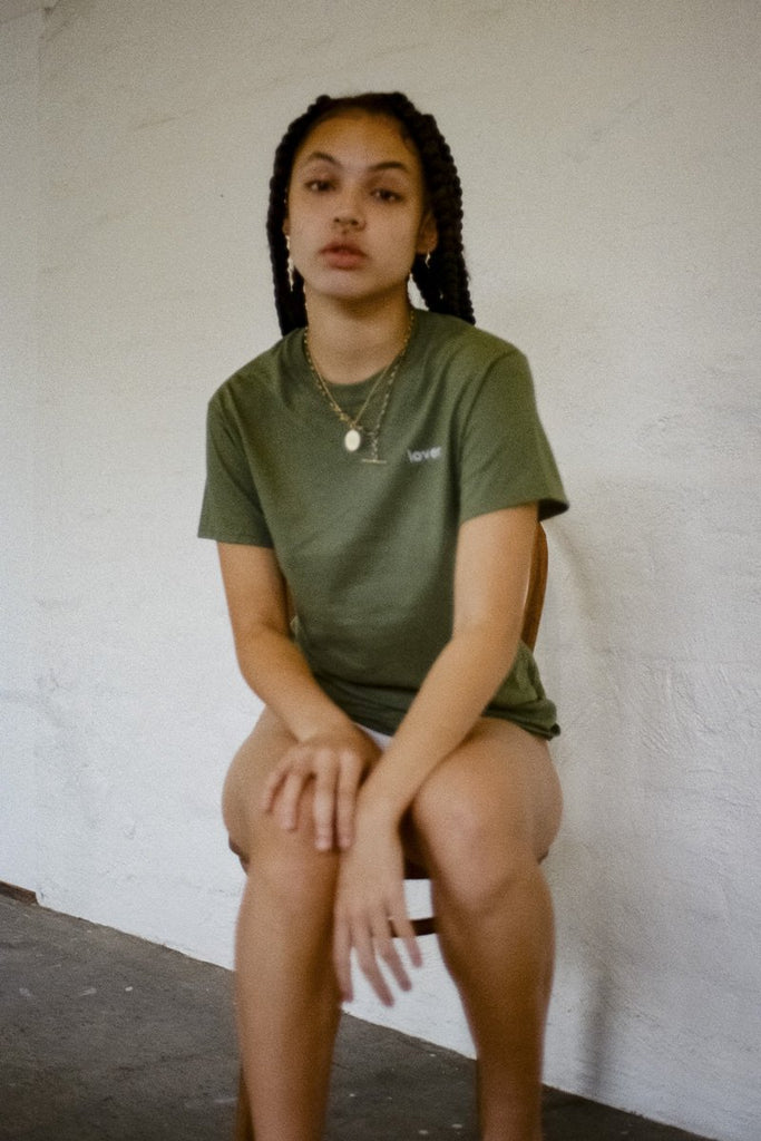 Double Trouble Gang 'Lover' T-shirt – Khaki | THENINETYNINE Online Store