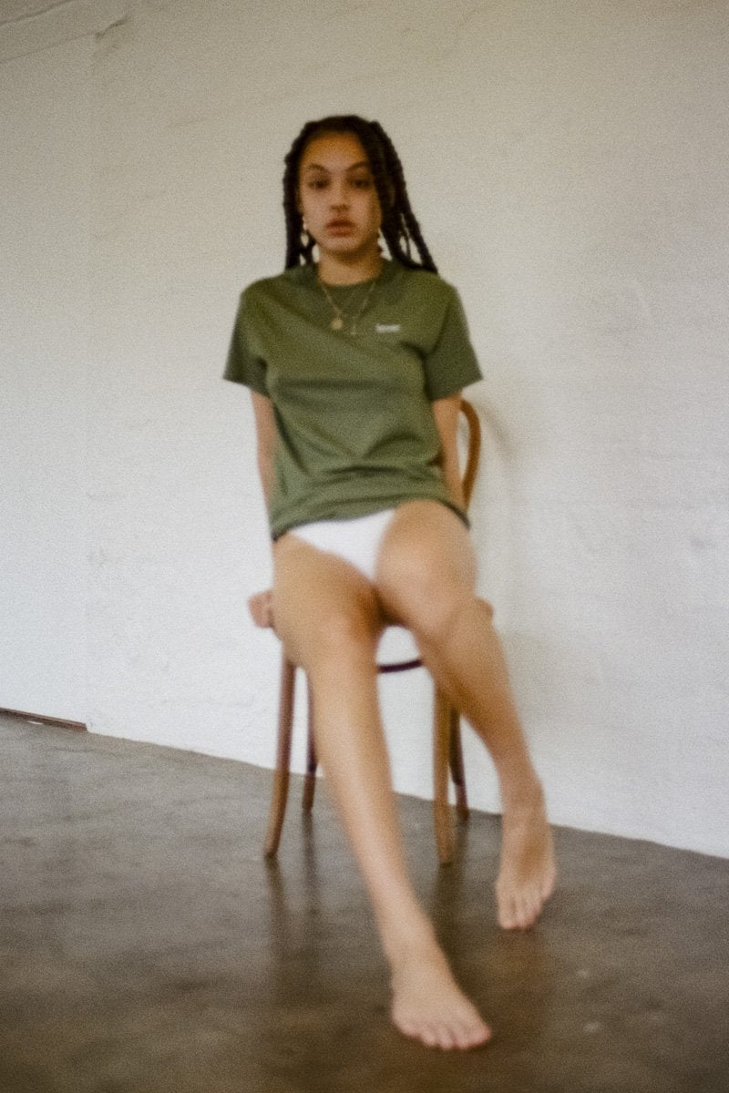 Double Trouble Gang 'Lover' T-shirt – Khaki - THENINETYNINE