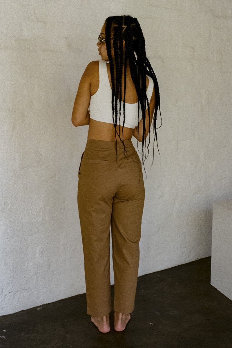 NEUW 'DeeDee' Tailored Pant – Camel - THENINETYNINE