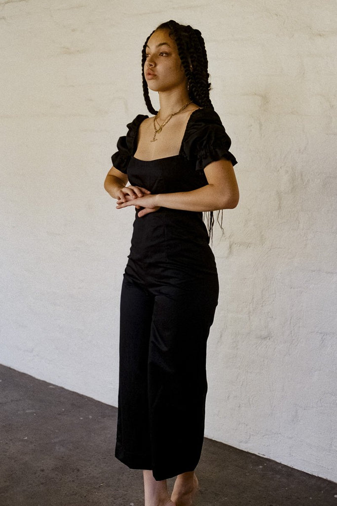 SISTER 'Ruby' Linen Jumpsuit – Black | THENINETYNINE Online Store