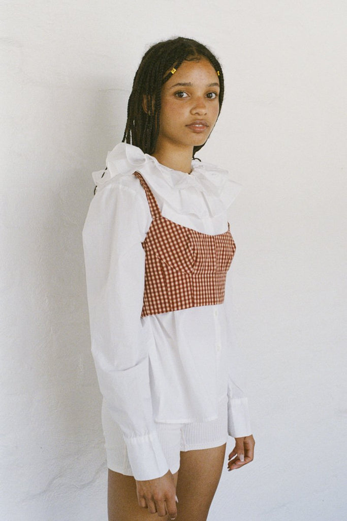 SISTER 'Izzy' Bodice Crop – Red Gingham | THENINETYNINE Online Store