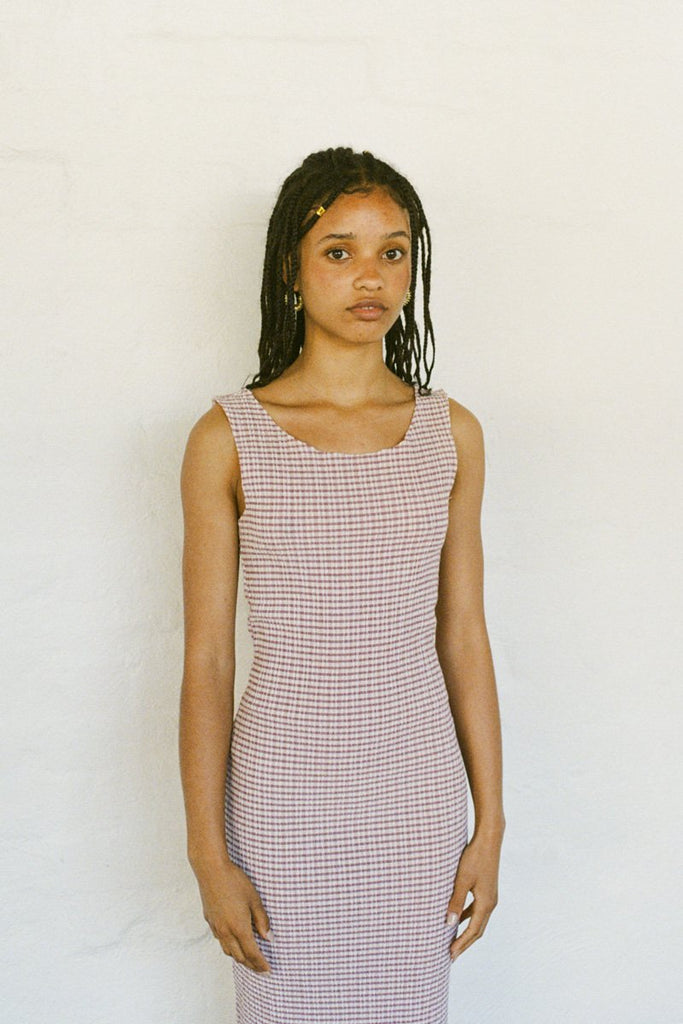 PERMANENT VACATION Tenderness Tank Dress – Faded Rose Gingham | THENINETYNINE Online Store