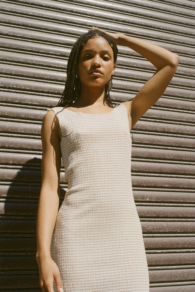 PERMANENT VACATION Tenderness Tank Dress – Sandstone Gingham | THENINETYNINE Online Store