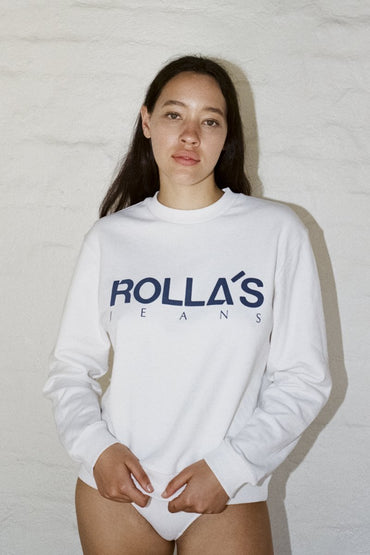 ROLLA'S Vintage Logo Sweater – Vintage White - THENINETYNINE