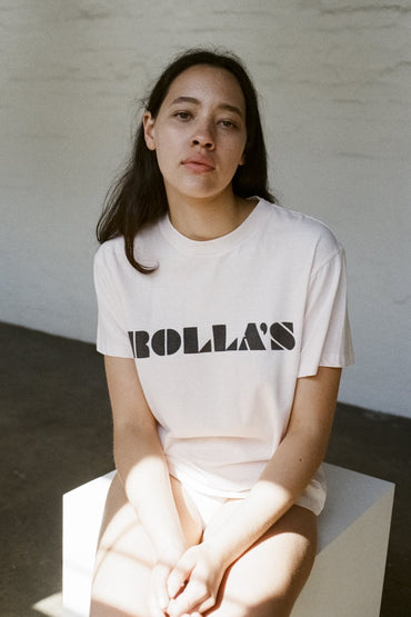 ROLLA'S Tomboy Logo Tee – Soft Pink - THENINETYNINE