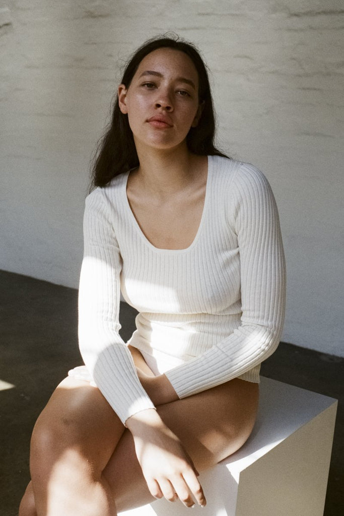 ROLLA'S Classic Rib Top – Off White | THENINETYNINE Online Store