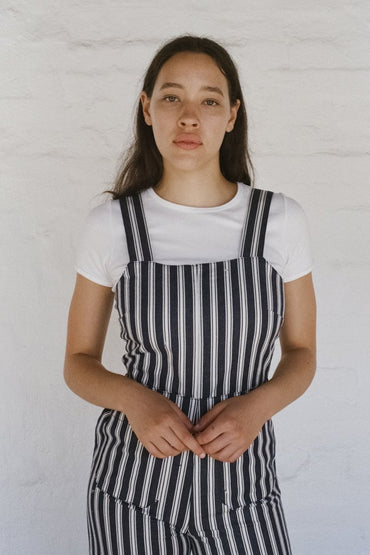 ROLLA'S Sailor Jumpsuit Salty Stripe - Navy White - THENINETYNINE