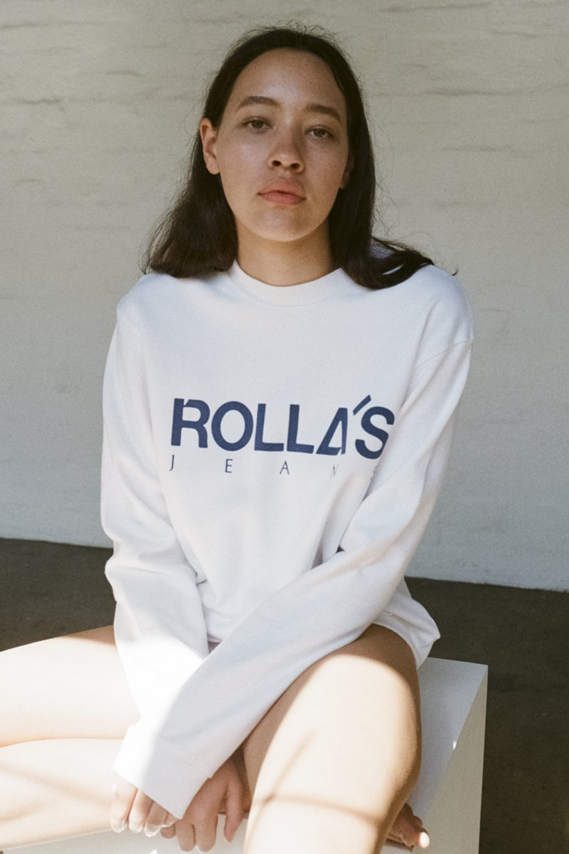 ROLLA'S Vintage Logo Sweater – Vintage White | THENINETYNINE Online Store