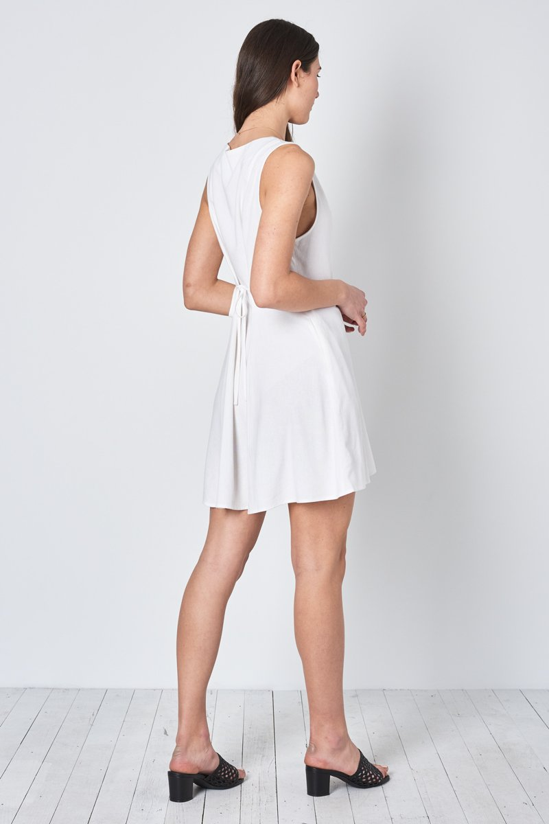 ROLLA'S 'Milla' Linen Tank Dress – White - THENINETYNINE