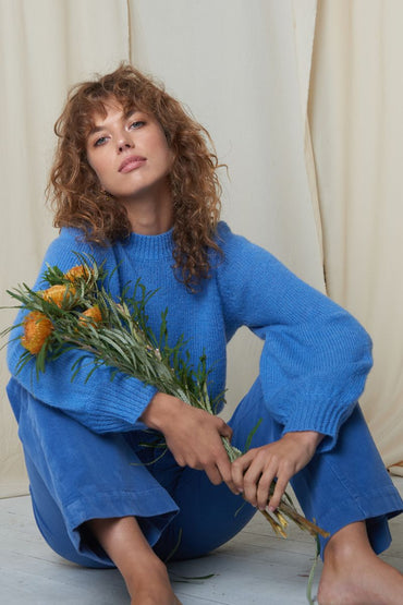 ROLLA'S 'Gigi' Fluffy Slouch Sweater – French Blue - THENINETYNINE