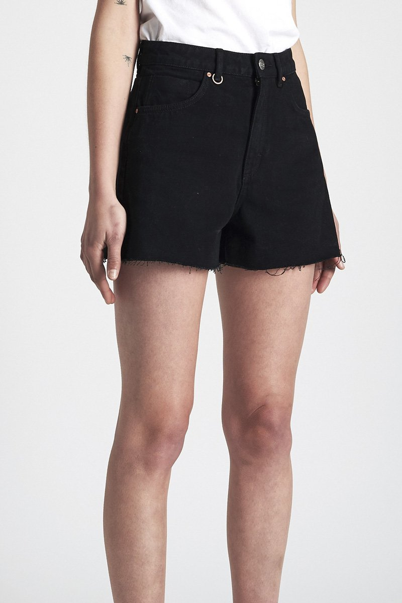 NEUW 'Ryder' Denim Shorts – Black Thunder - THENINETYNINE