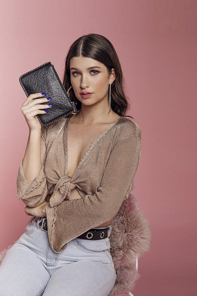 Georgia Mae 'The Aries' Clutch in Pebble - THENINETYNINE
