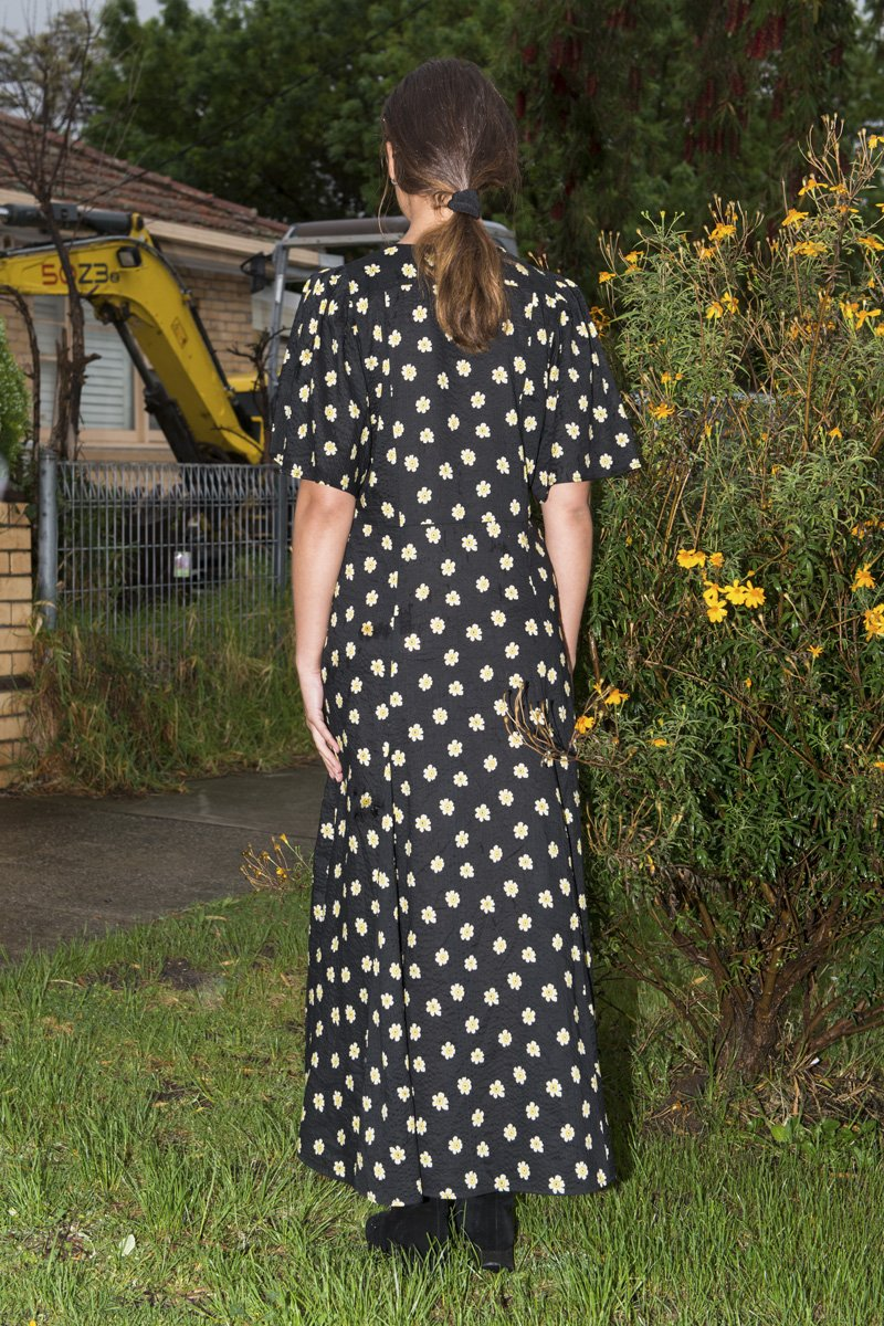PERMANENT VACATION 'Lykke' Floral Maxi Dress – Black - THENINETYNINE