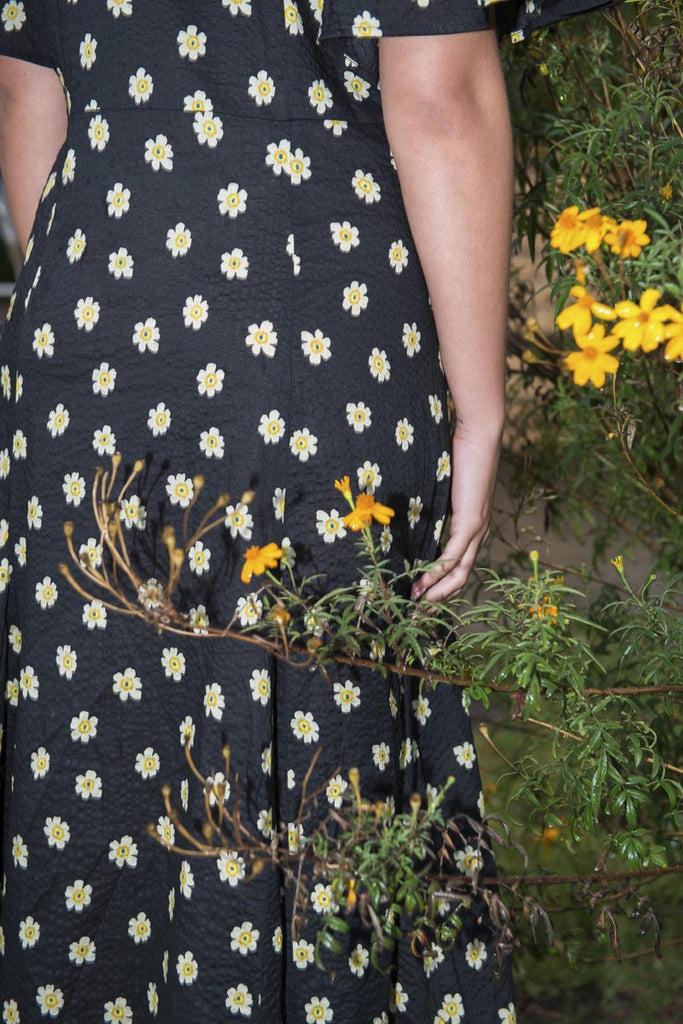 PERMANENT VACATION 'Lykke' Floral Maxi Dress – Black | THENINETYNINE Online Store
