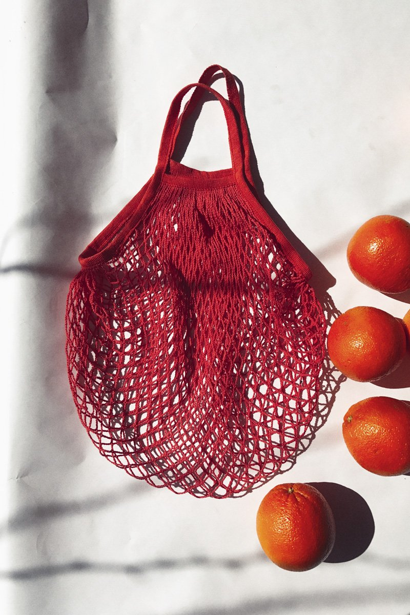 Reusable String Grocery Bag – Roma Red - THENINETYNINE