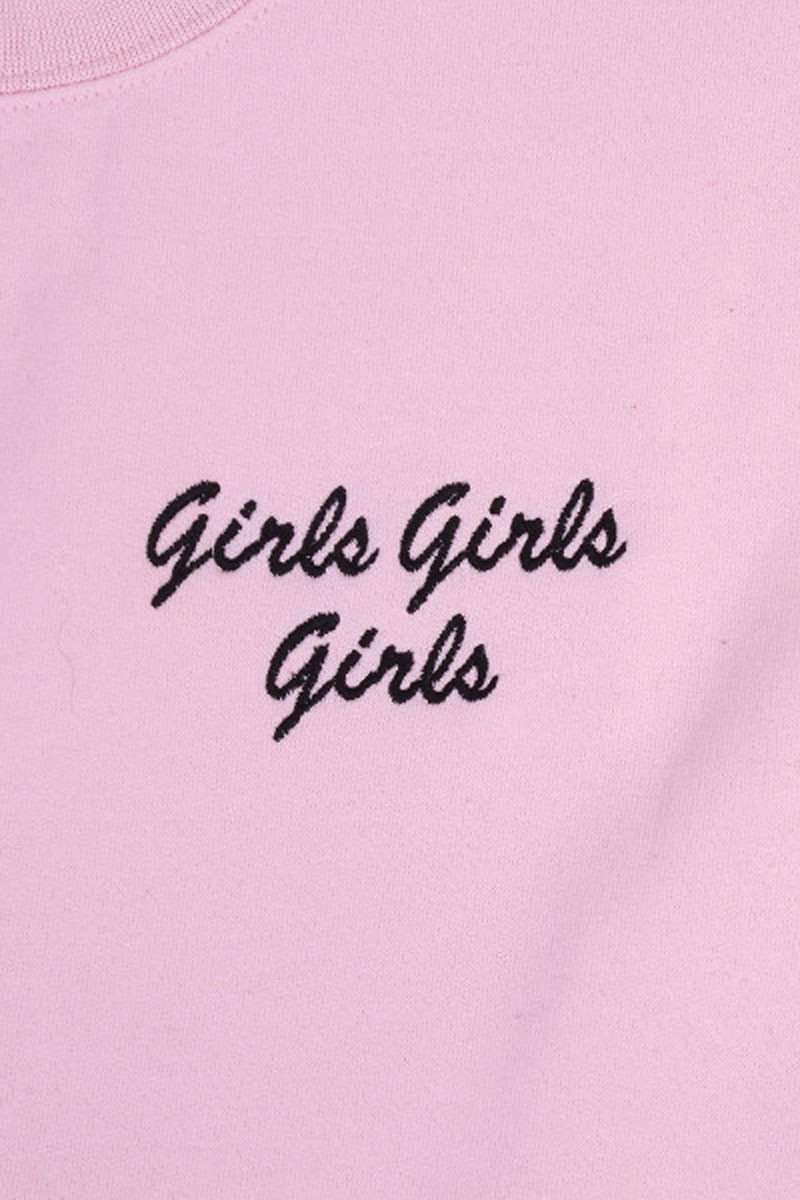 Double Trouble 'Girls Girls Girls' Embroidered Jumper - THENINETYNINE