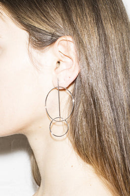 In The Loop Earrings – Silver - THENINETYNINE
