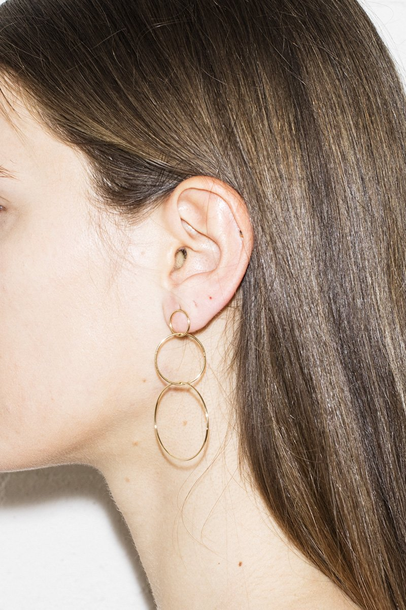 Hooped Up Earrings – Gold - THENINETYNINE