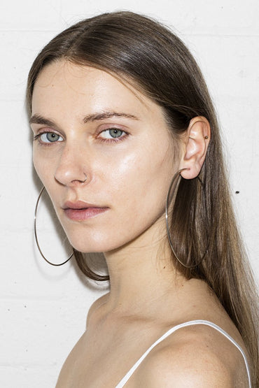Super Hoop Earrings – Silver - THENINETYNINE