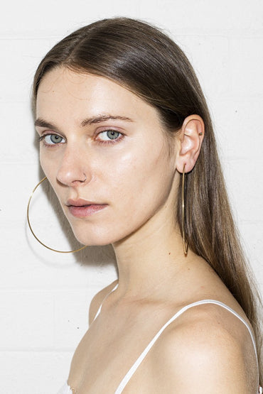 Super Hoop Earrings – Gold - THENINETYNINE
