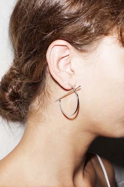 Geo Hoop Earrings – Silver - THE NINETY NINE