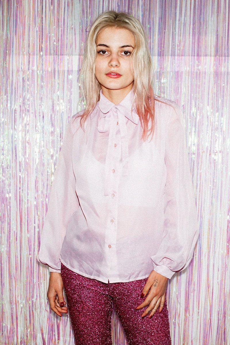 Vintage Pretty in Pink Bow Shirt - THE NINETY NINE - 4