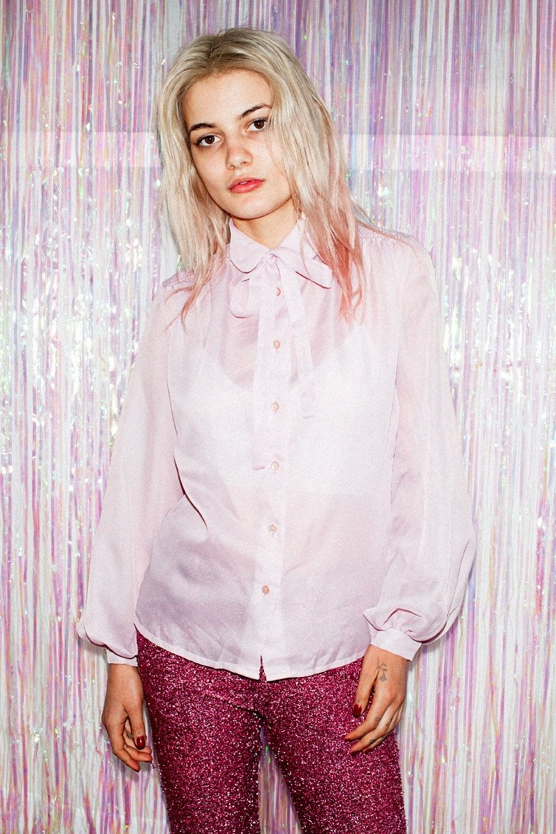 Vintage Pretty in Pink Bow Shirt - THE NINETY NINE - 5