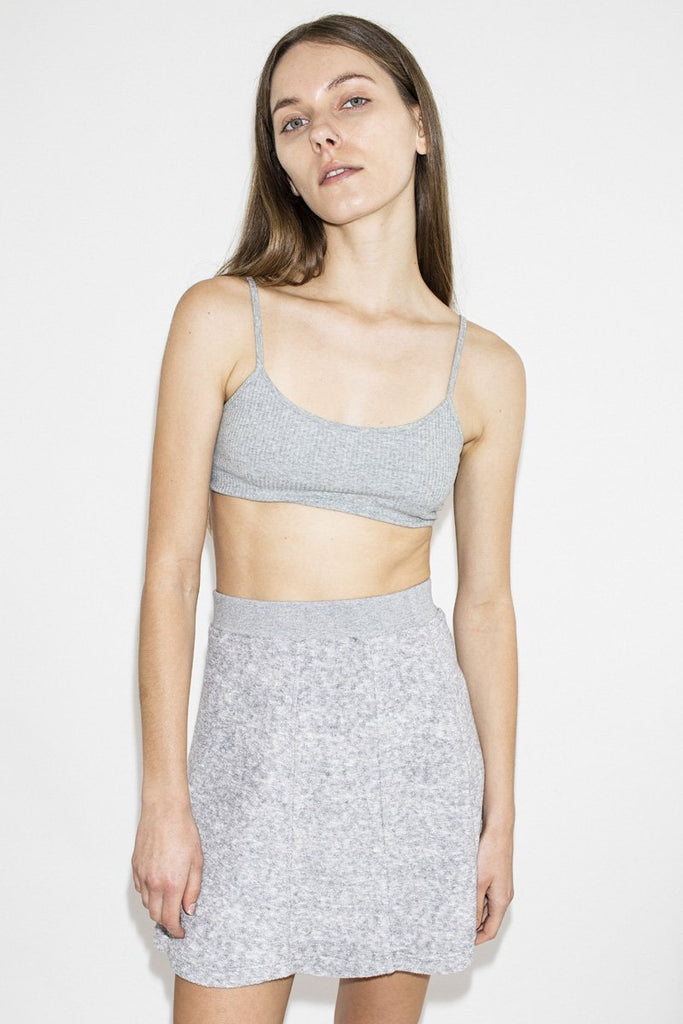 PERMANENT VACATION Rib Crop Top – Cool Grey | THENINETYNINE Online Store