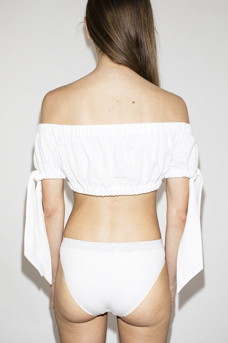 PERMANENT VACATION Fake Holiday Crop Top – White - THENINETYNINE
