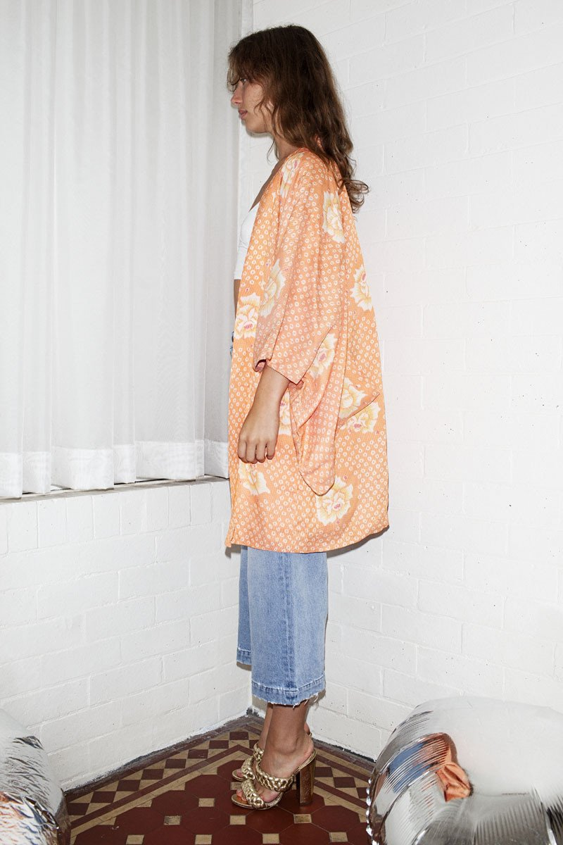 Vintage Kimono Jacket – Peach - THE NINETY NINE - 5