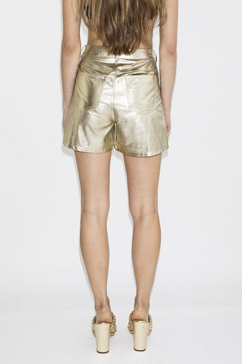 LENNI 'Astral' Shorts – Gold - THENINETYNINE