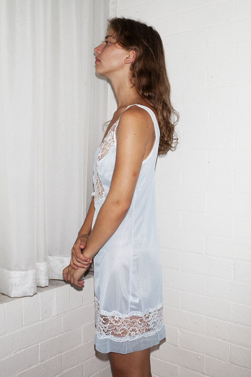 Vintage Slip Dress – Baby Blue - THE NINETY NINE - 4