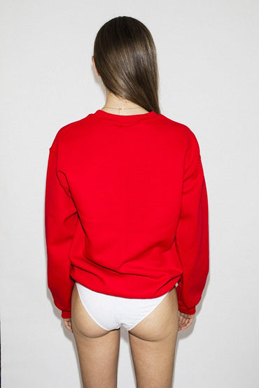 Double Trouble Gang 'The Lover' Embroidered Jumper – Red - THENINETYNINE