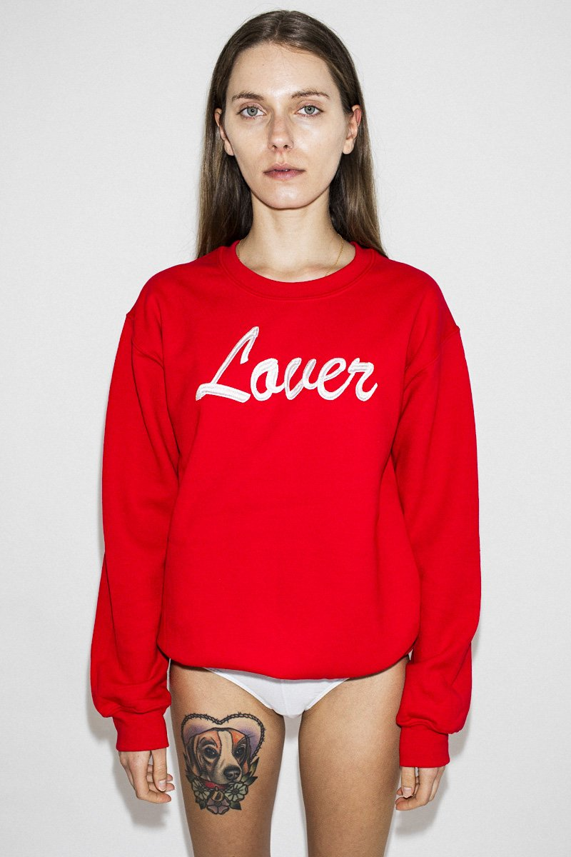 Double Trouble 'The Lover' Embroidered Jumper – Red